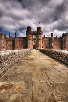 Herstmonceux Castle is a brick-built Tudor castle near Herstmonceux, East Sussex, England.