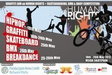 The ALF Malta Network Common Action - Graffiti Jam on Human Rights and Skateboarding, BMX & BBOY Competition | Anna Lindh Foundation