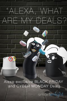Alexa-exclusive Black Friday and Cyber Monday Sneak Peek Deals Did you know, that Alexa has access to Alexa-exclusive Black Friday and Cyber Monday deals? All you need is your voice to save some money on Amazon Echo and many more devices, starting already today. #Amazon #AmazonEcho #BlackFriday #CyberMonday #Deals #smartenlight Alexa Voice, Cyber Monday Deals, Your Voice, Logitech, Amazon Echo, All You Need Is, Black Friday, Entertaining, Money