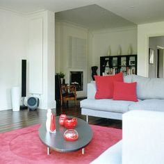 Stylish living room-via House to Home