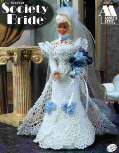 Barbie Crochet, Society Bride pattern http://knits4kids.com/collection-en/library/album-view?aid=4305