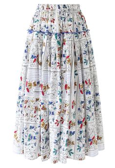 Skirt Outfits, Cool Outfits, Modest Outfits, Long Skirt Fashion, Royal Clothing, Paris Outfits, Hijab Fashion Inspiration, Pleated Midi Skirt, Floral Prints
