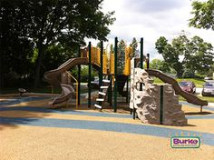 Middle Park nature inspired #playground in Bettendorf, Iowa