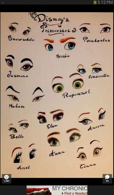 Disney princess eyes-I'd like to point out that Merida is Pixar tho! Disney Animation, Disney And Dreamworks, Disney Pixar, Disney Cruise, Disney Frozen, Disney Mignon, Estilo Disney, Disney Kunst, Disney Memes