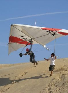 Hang gliding with Kitty Hawk Kites, North Carolina