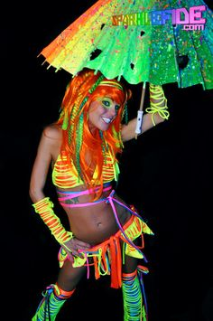 LED Ignition Tribal Rave Outfit. $290.00, via Etsy.