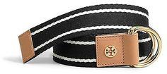Tory Burch Striped Webbing Belt on shopstyle.com