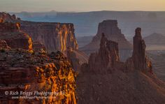 Washer Woman Arch and Airport Tower at sunrise in Canyonlands National Park. - Rich Briggs - Google+
