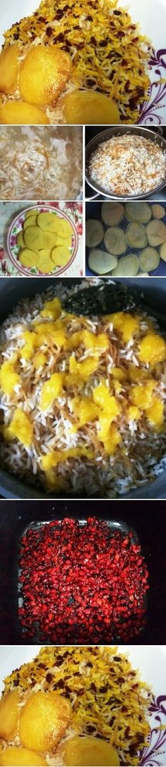 Rice with Noodles, one of the main dishes that are traditionally served in the evening of the Persian new year, Norooz
