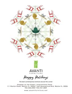 Holiday ad design for Avanti Furniture by the logo boutique #snowflake #furnituresnowflake