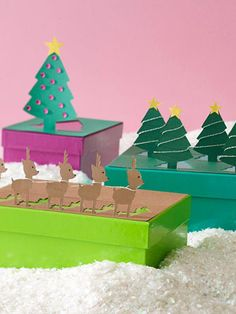 Cute packaging!  Use several different punches on the same package to create a pop-up scene.
