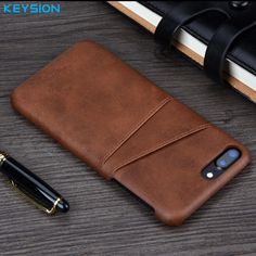KEYSION Case For iPhone 8 8 Plus 7 7 Plus Cover Leather Luxury Wallet Card #KEYSION