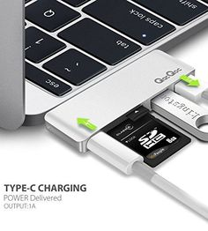 "#qacqoc #GN28A #Type-C Multi-Port Hub with Type C Charging Port, 2 USB 3.0 Extension Ports, 1 SD Card and 1 Micro Card Reader for 2016 #macbook Pro 13"" and 15"" (Silver)  #macbook #macbookpro  #iPhone #apple"