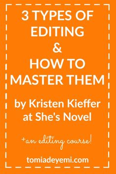 The key to achieving self-editing success lies in understanding the three types of editing and creating a game plan to see them all through. Click here to get a breakdown of each editing type!