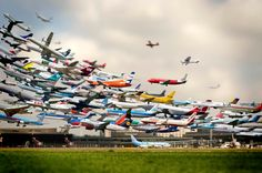 Striking Artistry of Multiple Takeoffs