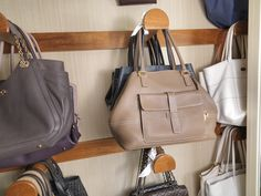 Purse Organization Closet Decorating Ideas With Walk In Closet With Storage For Shoes And Handbags Handbag Storage, Handbag Organization, Closet Organization, Handbag Organizer, Organization Ideas, Bedroom Organisation, Organizing Purses In Closet, Closet Storage, Organize Purses