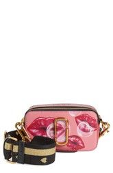 80603edb9a26a MARC JACOBS Snapshot Printed Lips Leather Crossbody Bag available at   Nordstrom Lederne Kameratasche