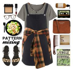 """""""Pattern Mixing: From Head to Toe"""" by anilovic ❤ liked on Polyvore featuring Topshop, Faith Connexion, Acne Studios, Trilogy, Polaroid, Oliver Peoples, NARS Cosmetics, MAC Cosmetics, patternmixing and luxexo"""