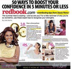 Dr. Stacia article in #redbook to boost your confidences. @Staci Abel Pierce!! @eatmytreat.com