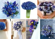 blue and yellow wedding pieces in a bascket | so you have chosen blue as your primary wedding colour