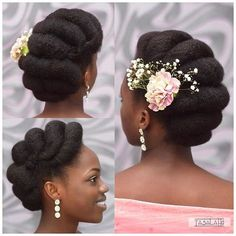 Natural hair accessories to rock this summer – A drop of black Summer is on us! It's about time for bikinis and beaches and vacations. Summer is the best time to show off your natural hair and beautiful accessories make it Natural Hair Wedding, Natural Hair Updo, Natural Hair Styles, Natural Hair Brides, Kinky Hair, Afro Hair Updo, Natural Wedding Hairstyles, Bride Hairstyles, Bridal Hair