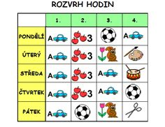 rozvrh hodin :: Grigárková Marta třída 1. A Martini, Education, Cards, Autism, Maps, Onderwijs, Learning, Martinis, Playing Cards
