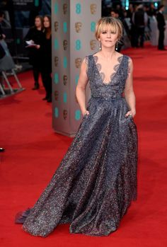 Edith Bowman attends the EE British Academy Film Awards at The Royal Opera House on February 8, 2015 in London, England.