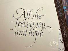 The Invisible Life of Addie LaRue, V. E. Schwab, fiction, literature, joy, adventure, hope, broadedge calligraphy, English calligraphy, Italic Hand