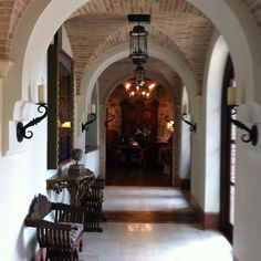 entry.  Brick groin vault ceiling, marble floors Braswell Architecture