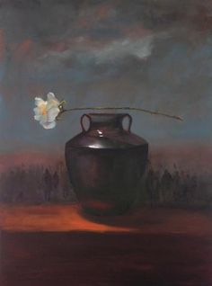 Diane White - Order of the Rose - Matthews Gallery #art #artist #artists #painter #painting #stilllife #pottery #ceramics #vase #roses #flowers #floral #oilpainting Canyon Road, Santa Fe, New Mexico $5,800