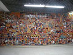 Mural Estación Unidad deportiva Cali