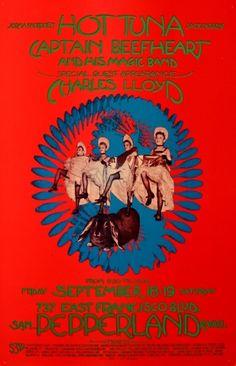 1970 Hot Tuna/Captain Beefheart/Charles Lloyd at Pepperland.