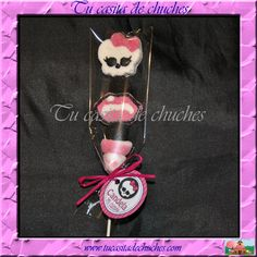 Brocheta chuches Monster High, personalizada