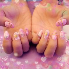 A good inspiration for pink colored nail polish. It looks very girly and elegant!