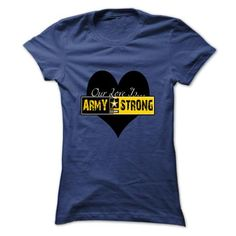 Our Love Is Army Strong - #geek t shirts #capri shorts. CHECK PRICE => https://www.sunfrog.com/Automotive/Our-Love-Is-Army-Strong-rpxicmhuyx-Ladies.html?60505