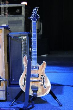 Trey Anastasio's longtime Koa-bodied, Paul Languedoc-built, hollowbody guitar