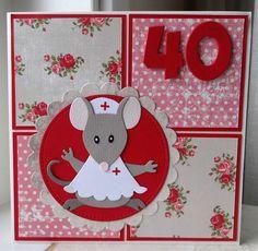 40 jaar jubileum in de zorg..... Homemade Greeting Cards, Felt Books, Marianne Design, Get Well Cards, Scrapbook Sketches, Folded Cards, Kids Cards, Paper Piecing, Card Templates