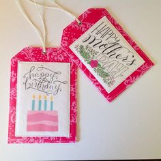 Quilted Drawstring Bag with Gift Tag Mother's by MyCreativeFrenzy