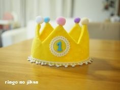 ■お知らせ■(2016/12/1追記)新ブログに、より詳しい王冠の作り方をアップしました。こちらには無料の型紙も載せていますので、ぜひご活用ください(●´... Baby Crafts, Diy And Crafts, Crafts For Kids, Half Birthday, Birthday Photos, Cool Baby Stuff, Handmade Baby, Diy Projects To Try, Baby Sewing