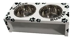 Raised Dog Bowl | RIZERvue Personalized Name (Small, Black)