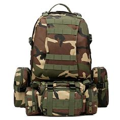 HOMEPRO 50L Outdoor Tactical Sports Camping Hiking Rucksack Backpack  Mud color  >>> Details can be found by clicking on the image.(This is an Amazon affiliate link and I receive a commission for the sales)