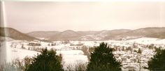 looking over Coon Valley, WI
