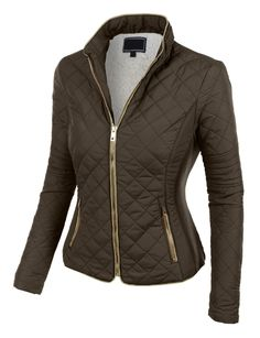 This quilted brushed fleece full zip up scuba jacket is the essential piece you must have! Its inner brushed fleece will give you all the comfort and fleece you need. This zip up jacket is perfect for day or night. Every women should have this jacket in there closet. Feature - 100% Polyester - Lightweight, soft inner brushed fleece material for warmth and comfort / Stand collar for style - Full zip-up closure / Gold hardware for style / Ribbed side panels - Two zip-up side pockets for…