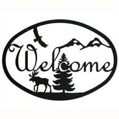 Wrought Iron Moose & Eagle Welcome Sign at Timeless Wrought Iron