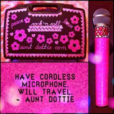 I can just about sing anywhere with my cordless mic.