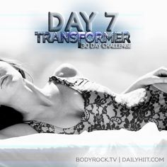 Day 7 = Rest Day!  Get that energy up, you're going to need it :)