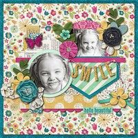 glitter edge, smile swag, matted pocket accent; A Project by nikkiARNGwife from our Scrapbooking Gallery originally submitted 06/25/13 at 11:21 AM