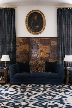 OMG THIS RUG! Ikat rug, leopard prints pillow, and chinoiserie screen mixed . Samavar by Martyn Lawrence Bullard for The Rug Company. Home Furniture, Furniture Design, Rug Company, Interior Decorating, Interior Design, Decorating Ideas, Luxury Sofa, Modern Rugs, Contemporary Interior