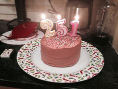 Not enough candles cake