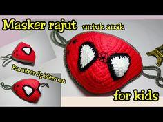 Crochet Mask, Crochet Faces, Crochet Toys, Crochet Wallet, Crochet Gifts, Henna Patterns, Crochet Patterns, Spiderman Face, Animal Face Mask